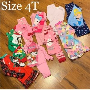 Girls pajama/gown bundle (9) Size 4T gently used